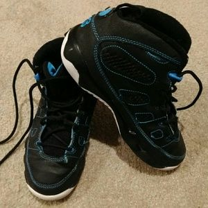 Jordan 9 ix size 2.5 black photo blue